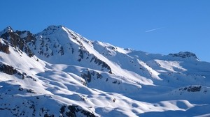 alps, mountains, snow, sky, peaks - wallpapers, picture